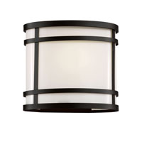 Cityscape 1 Light 8 inch Black Outdoor Wall Lantern in White Frosted