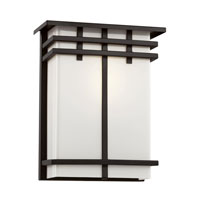 Trans Globe Iced Glass 1 Light Outdoor Wall Lantern in Black 40203-BK