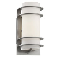 Trans Globe Lighting 40204-SL Cityscape 1 Light 11 inch Silver Outdoor Wall Lantern