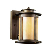 Trans Globe Cityscape Torch 1 Light Outdoor Wall Lantern in Antique Bronze 40210-ABZ