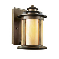 Bronzed 1 Light 13 inch Antique Bronze Outdoor Wall Lantern