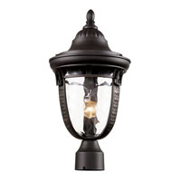 Trans Globe Braided Roman 1 Light Outdoor Post Light in Rubbed Oil Bronze 40223-ROB