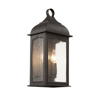 Seeded Masonic 2 Light 15 inch Rubbed Oil Bronze Outdoor Pocket Lantern