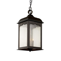 Trans Globe Seeded Masonic 3 Light Outdoor Hanging Lantern in Rubbed Oil Bronze 40234-ROB