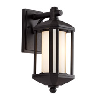 Trans Globe Downtown Trolley 1 Light Outdoor Wall Lantern in Black 40250-BK
