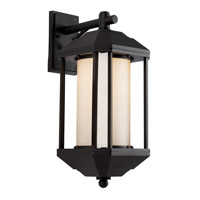 Trans Globe Downtown Trolley 1 Light Outdoor Wall Lantern in Black 40251-BK