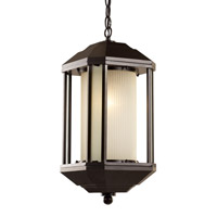 Trans Globe Downtown Trolley 1 Light Outdoor Hanging Lantern in Rubbed Oil Bronze 40255-ROB