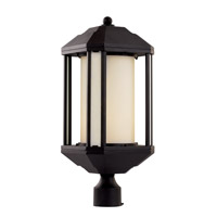 Trans Globe Downtown Trolley 1 Light Outdoor Post Light in Black 40256-BK
