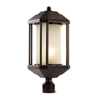 Trans Globe Downtown Trolley 1 Light Outdoor Post Light in Rubbed Oil Bronze 40256-ROB