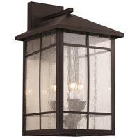 Capistrano 3 Light 16 inch Rubbed Oil Bronze Outdoor Wall Lantern