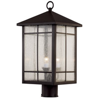 Capistrano 3 Light 18 inch Rubbed Oil Bronze Outdoor Post Lantern