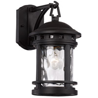 Boardwalk 1 Light 13 inch Black Outdoor Wall Lantern