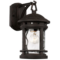 Boardwalk 1 Light 13 inch Rust Outdoor Wall Lantern