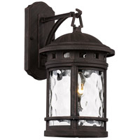 Boardwalk 1 Light 16 inch Rust Outdoor Wall Lantern