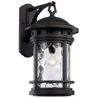 Boardwalk 1 Light 20 inch Black Outdoor Wall Lantern
