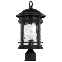 Boardwalk 1 Light 19 inch Black Outdoor Post Lantern