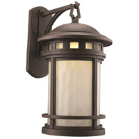 Boardwalk 1 Light 19 inch Rust Outdoor Post Lantern