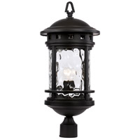 Boardwalk 1 Light 24 inch Black Outdoor Post Lantern