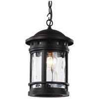 Boardwalk 1 Light 9 inch Black Outdoor Hanging Lantern