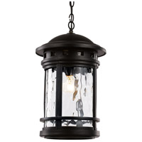 Boardwalk 1 Light 11 inch Black Outdoor Hanging Lantern