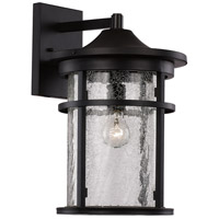 Avalon 1 Light 15 inch Black Outdoor Wall Lantern