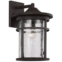 Avalon 1 Light 15 inch Rust Outdoor Wall Lantern