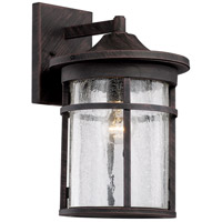 Avalon 1 Light 18 inch Rust Outdoor Wall Lantern