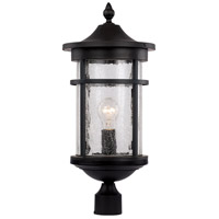 Avalon 1 Light 17 inch Black Outdoor Post Lantern