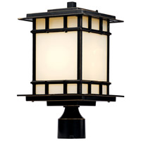 Antonio 1 Light 15 inch Rubbed Oil Bronze Outdoor Post Lantern