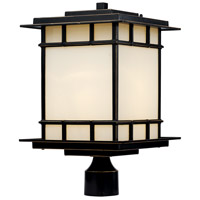 Antonio 1 Light 17 inch Rubbed Oil Bronze Outdoor Post Lantern