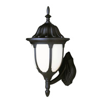 Trans Globe Avignon 1 Light Outdoor Wall Lantern in Black 4040-BK
