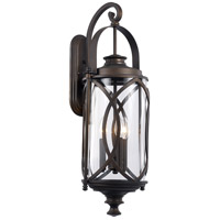 Fiesta 3 Light 30 inch Rubbed Oil Bronze Outdoor Wall Lantern