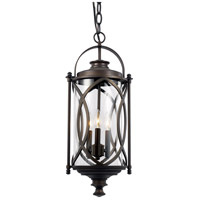 Fiesta 3 Light 11 inch Rubbed Oil Bronze Outdoor Hanging Lantern
