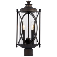 Fiesta 2 Light 24 inch Rubbed Oil Bronze Outdoor Post Lantern