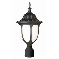 Avignon 1 Light 19 inch Black Post Lantern
