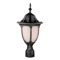 Trans Globe Avignon 1 Light Post Lantern in Swedish Iron 4042-SWI