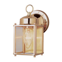 Purisima 1 Light 9 inch Polished Brass Outdoor Wall Lantern