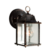 Trans Globe Purisima 1 Light Outdoor Wall Lantern in Black Copper 40455-BC