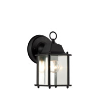 Trans Globe Purisima 1 Light Outdoor Wall Lantern in Black 40455-BK