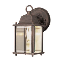 Purisima 1 Light 8 inch Rust Outdoor Wall Lantern