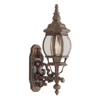 Trans Globe Lighting Classic 1 Light Outdoor Wall Lantern in Rust 4050-RT