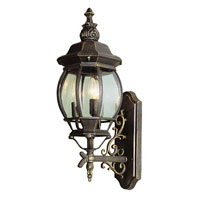 Trans Globe Lighting Classic 3 Light Outdoor Wall Lantern in Black Gold 4051-BG