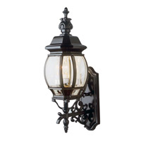 Trans Globe Rochelle 3 Light Outdoor Wall Lantern in Black 4051-BK