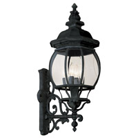 Trans Globe Rochelle 4 Light Outdoor Wall Lantern in Black 4052-BK