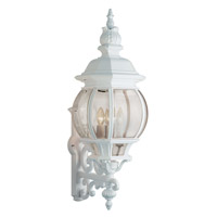 Trans Globe Rochelle 4 Light Outdoor Wall Lantern in White 4052-WH