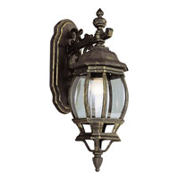 Trans Globe Lighting Classic 1 Light Outdoor Wall Lantern in Black Gold 4053-BG