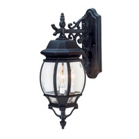 Trans Globe Rochelle 3 Light Outdoor Wall Lantern in Black 4054-BK