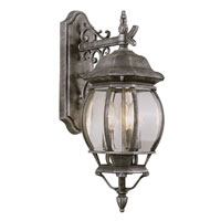 Rochelle 3 Light 25 inch Swedish Iron Outdoor Wall Lantern