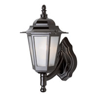 Trans Globe Lighting The Standard 1 Light Outdoor Wall Lantern in Black 4055-BK