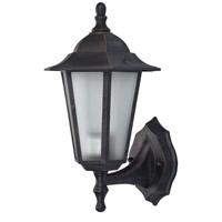 Trans Globe Lighting 4055-RT Windsor 1 Light 15 inch Rust Outdoor Wall Lantern